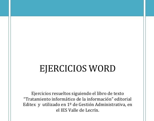 ejercicios de word edutic