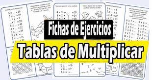 ejercicios para aprender las tablas de multiplicar con fichas