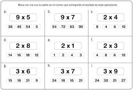 ejercicios para aprender las tablas de multiplicar facilmente