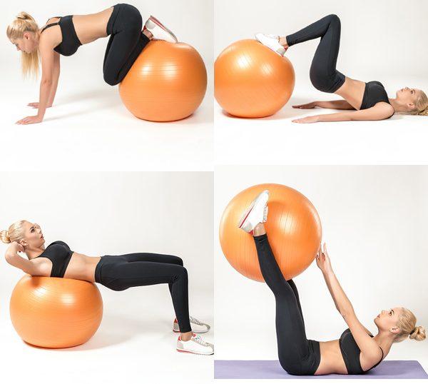 ejercicios para vientre plano con pelota