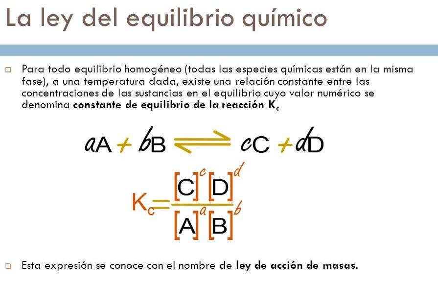 ejercicios de equilibrio químico