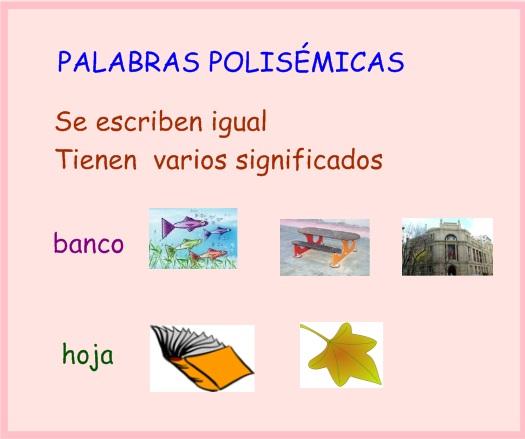 palabras polisemicas ejemplos
