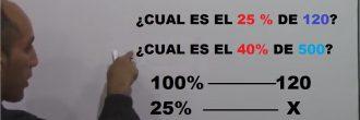 Ejercicios de porcentajes