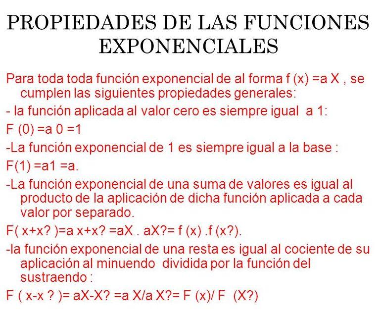 ejercicios de ecuaciones exponenciales propiedades