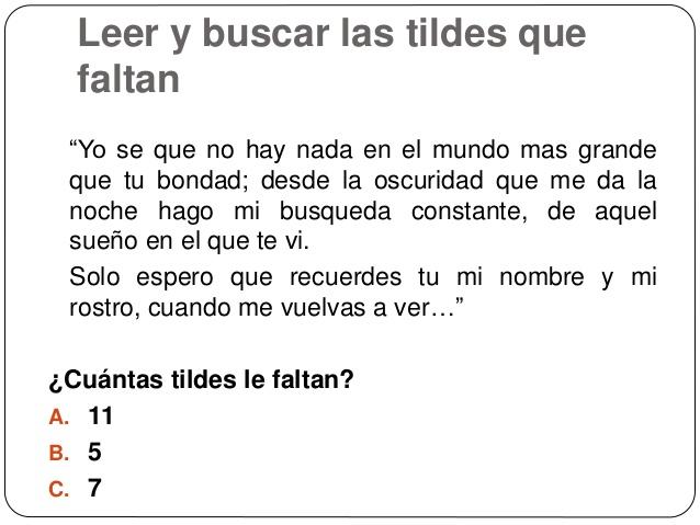 ejercicios de acentuación en español