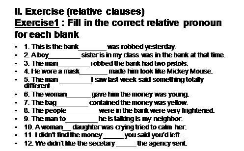 ejercicios relative clauses b1