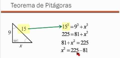 ejercicios de teorema de pitagoras