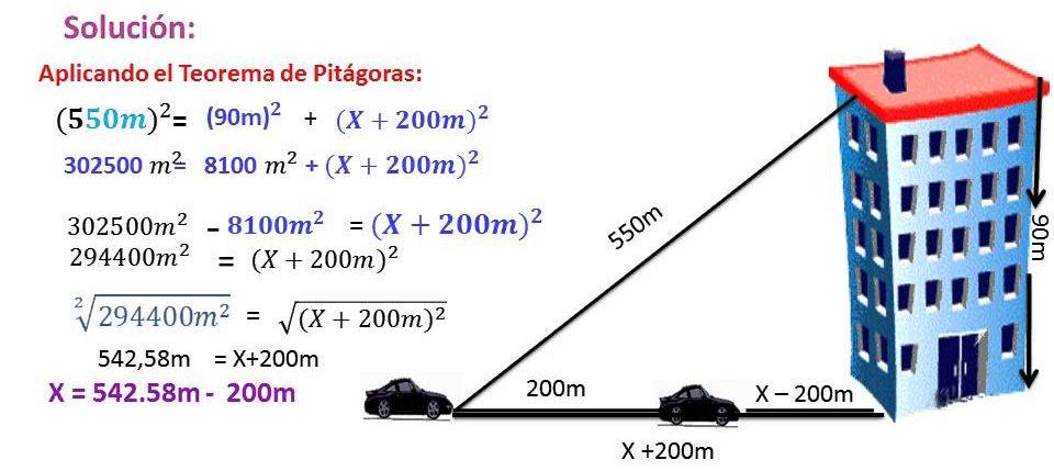ejercicios de teorema de pitagoras matematicas