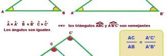 Teorema de Thales ejercicios
